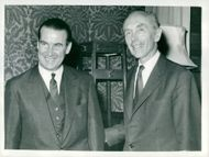 Dr. Gerhard Schroeder meets with Lord Alec Douglas-Home