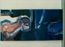 Blue is often found in Bengt Olson's painting. His paintings are missing titles
