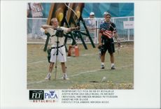Justin Huysh from the US, took gold in archery and Swedish Magnus Petersson shot for silver
