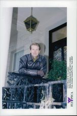 Tennis player Stefan Edberg outside his home in London