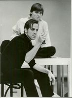 Peter Stormer as Hamlet in William Shakespeare's play with the same name. The play is directed by Ingmar Bergman.