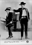 "Jason Robarbs and James Garner in ""Hour of The Gun"""