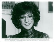 "Portrait image of Dustin Hoffman in the role of Dorothy Michaels in the movie ""Tootsie""."