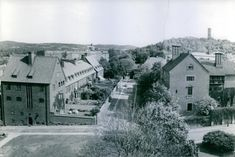 High angle view of houses in Gothenburg 1953