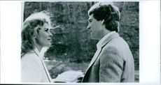 Ryan O'Neal & Candice Bergen in the 1978 romantic drama film Oliver's Story.