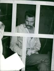 Régis Debray in his prison cell.
