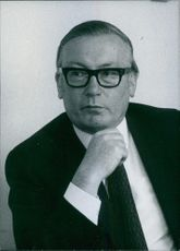 Portrait of Norman Swallow, 1971.
