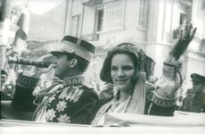 King Konstantin and Queen Anne-Marie of Greece visit Thessaloniki