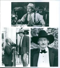 "Jim Varney and Dabney Coleman in the film ""The Beverly Hillbillies"", 1993."