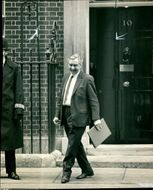 Lord George Brown leaves the 10 Downing Street