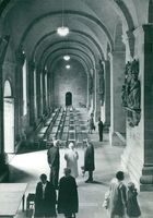 Southern side ship in Lund's cathedral furnished with new Danish specially designed chairs and new luminaire