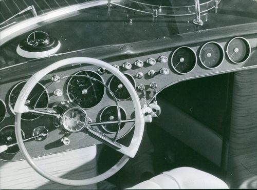 Steering wheel of a boat, 1969.