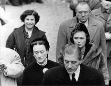 Royals attending the burial of the Duke of Windsor.
