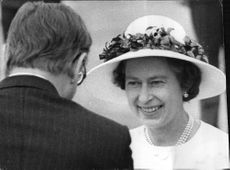 Queen Elizabeth II on arrival at Gatwick Airport