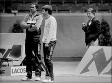 American tennis players Arthur Ashe and Jimmy Connors as well as Judge Mills