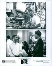 Stills from the film The Great White Hype with director Reginald Hudlin and Samuel L. Jackson.