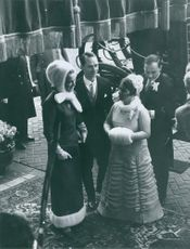 Princes Margret is talking to a lady. January 12, 1967