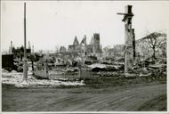 Norway in ruins after the German invasion. 1940.