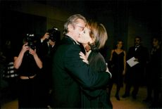 Actors Alain Delon and Claudia Cardinale at the Rudolph Valentino Awards