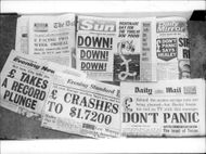 The front pages when the pound fell drastically