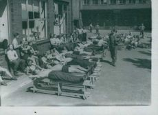Germans prisoners taking a good rest under the sun.