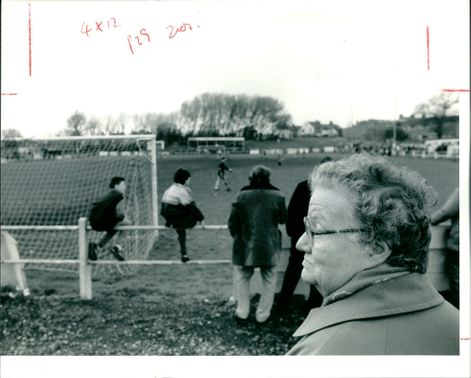 Ruth Chadwick. a loyal Accrington Stanley supporter.