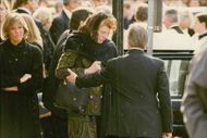 Rose Kennedy's funeral. Patricia Kennedy Lawfor at his mother's funeral. For example, Kara Kennedy
