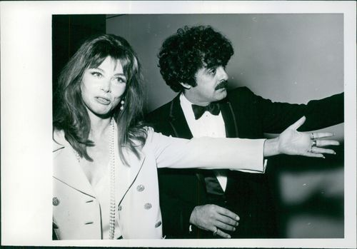 Lee Grant with her husband Joe Feury at the Armanson Theatre, Los Angeles Music Center attending a show.  - 1970