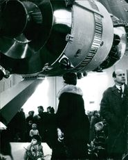"The Soviet exhibition ""Man in the cosmos"" at the Technology Museum, Stockholm 1966"