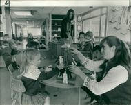 Schools 1970-1979:Teach in yesterday for mothers of pupils.