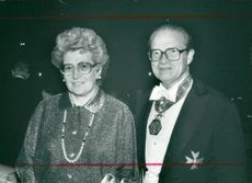 Ulla and Curt Nicolin, for the day with the IVA gold medal on the neck