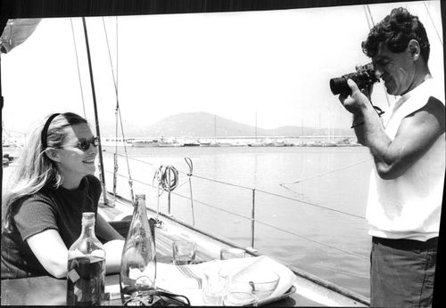 Jean-Claude Brouillet taking photograph of Marina Vlady.