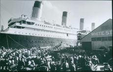 A scene from the film Titanic, 1997.