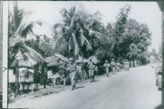 Soldiers running on the street