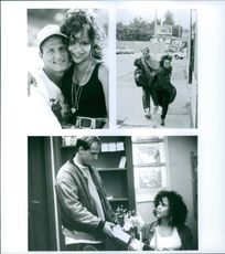 Three scenes from the film White Men Can't Jump. 1991