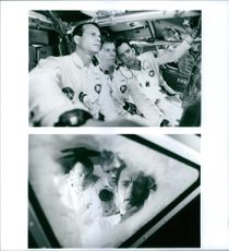 Scenes from the movie Apollo 13 with Bill Paxton, Tom Hanks and Kevin Bacon, 1995.
