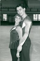 Ice skater Ian Jenkins (R) in practice with Susan Garland