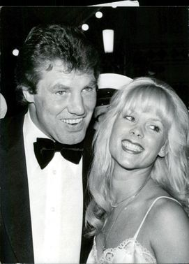 Portrait image of Billy Walker, ex. Heavyweight boxer, and Anna Bergman taken in an unknown context.