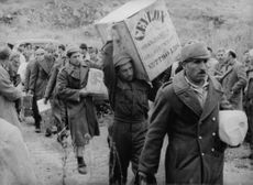 Soldiers carrying their food supply.