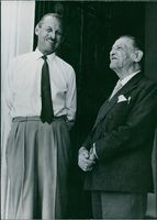 Somerset Maugham calls on the Governor of Eden, 1959.