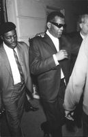 Ray Charles Robinson, walking.