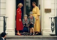 Princess Diana leave Prince William and Prince Harry at the school (Wetherby School)