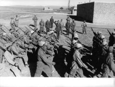Algerian Soldiers marching The Algerian War,  also known as the Algerian War of Independence or the Algerian Revolution