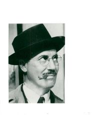 """Portrait of Groucho Marx from """"Millionaire for a Day"""""""