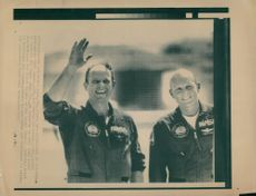 Astronauts Jack Lousma and Gordon Fullerton