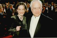 Actor Richard Dreyfuss with her best girl on the red carpet at the Oscars gala