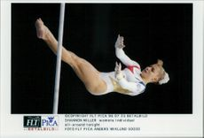 American gymnast Shannon Miller during the 1996 Olympic Games
