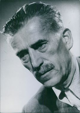 Photograph of Pal Szabo. Hungarian Writer.