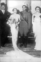 Kung Farouks syster, prinsessan Fawzia gifter sig