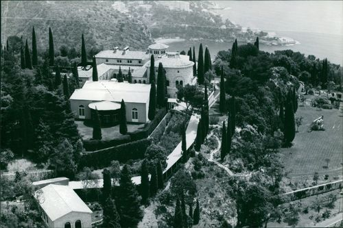 An aerial view of the house of Princess Maria Gabriella of Savoy.